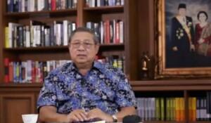 Pendiri Partai Demokrat Susilo Bambang Yudhoyono (SBY) menyampaikan dukungannya ke paslon Eka-Richi (M Rafi / Mattanews.co)