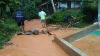 Jalur irigasi di Dusun Desa RT 05 RW 02 Desa Gunungsari, Kecamatan Sadananya, Kabupaten Ciamis, Jawa Barat
