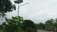 PJU TS yang terpasang di Muara Dua, Prabumulih.