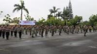 Satuan Brimob Polda Jabar menggelar Upacara pembukaan latihan pemeliharaan kemampuan (Latharpuan)
