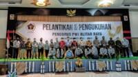 Pelantikan PWI Blitar Raya yang dilantik oleh Ketua PWI Jawa Timur, Ainur Rohim (Robby / Mattanews.co)