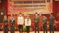 KPUD Kabupaten Blitar menetapkan Rini-Rahmat sebagai Bupati-Wakil Bupati Blitar terpilih periode 2021-2026 (Robby / Mattanews.co)