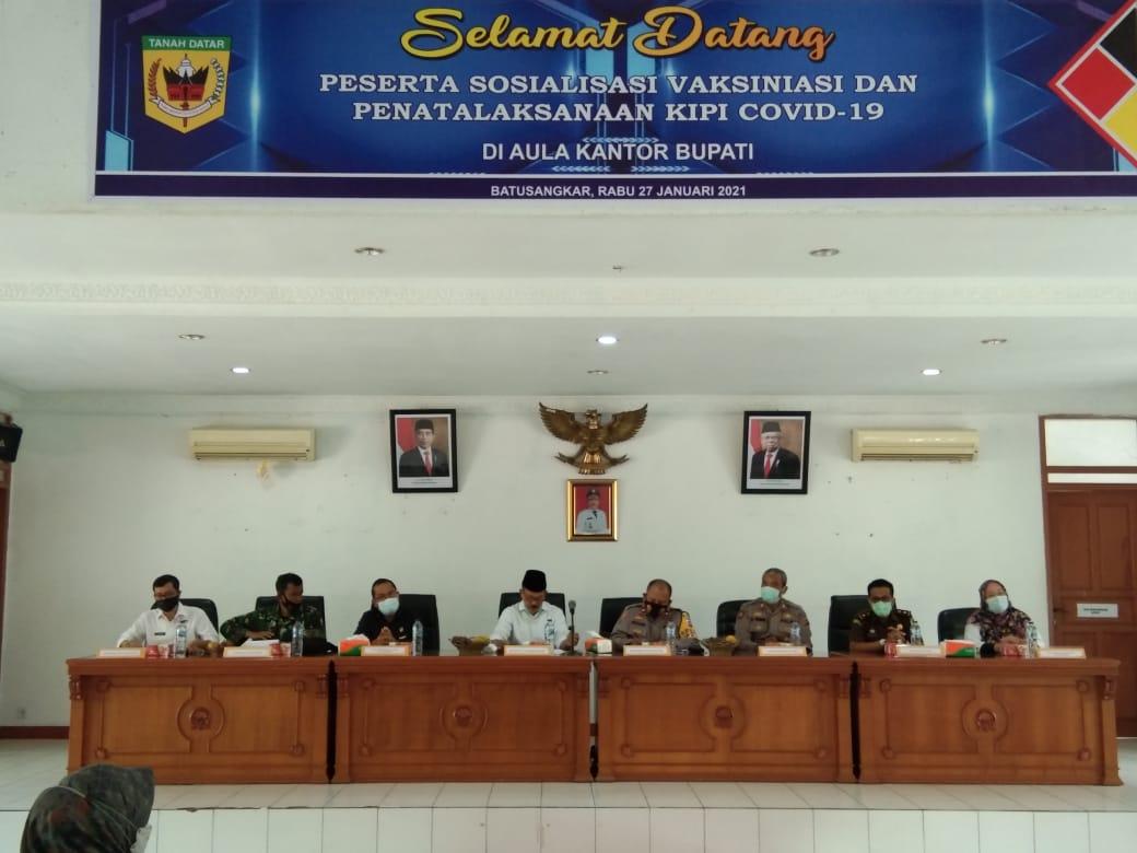 Dinkes Tanah Datar menggelar sosialisasi vaksinasi di Kabupaten Tanah Datar Sumbar (M Rafi / Mattanews.co)