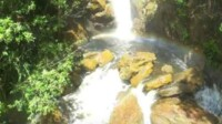 Objek wisata alam Air terjun Masupa Ria ,di Desa Masupa Ria Kecamatan Mandau Talawang,Kabupaten Kapuas Kalteng (Angga / Mattanews.co)
