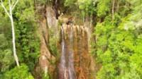 Objek wisata alam Air Terjun Masupa Bahandang di Desa Masupa Ria Kecamatan Mandau Talawang Kabupaten Kapuas Kalteng (Angga / Mattanews.co)