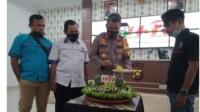 Kapolres Merangin Jambi AKBP Irwan Andy Purnamawan bersama PWI,, IWO. Forwam dan PWM di Merangin, memperingatiHari Pers Nasional (HPN) 2021 (Yulisman / Mattanews.co)