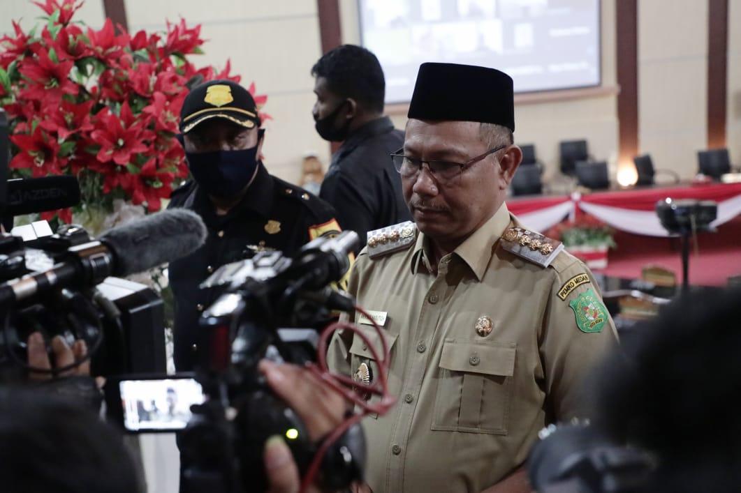 Wali Kota (Wako) Medan Akhyar Nasution saat menjabat di hari terakhirnya (Dok Humas Pemkot Medan / Mattanews.co)