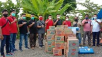 Bantuan dari Telkomsel untuk jurnalis korban gempa di Sulbar.