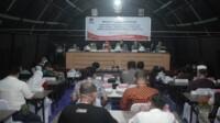 KPU Mamuju menggelar rapat pleno terbuka penetapan pasangan calon bupati dan wakil bupati terpilih dalam pemilihan bupati dan wakil bupati Mamuju tahun 2020, senin (21/2/2021).