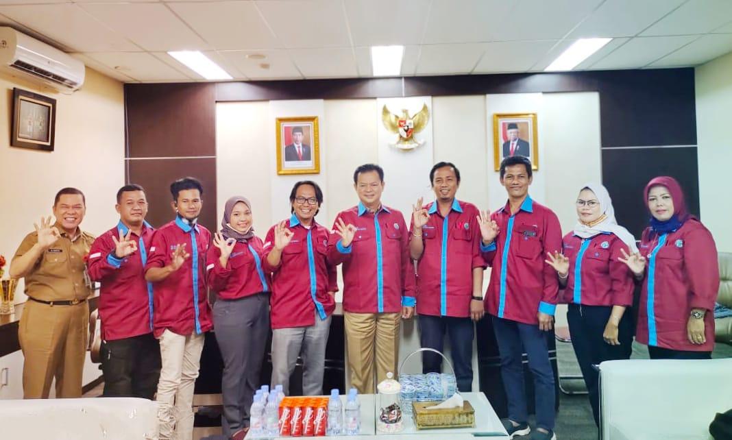 PD IWO Prabumulih beraudiensi dengan Wawako Prabumulih