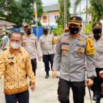 Polisi Resort (Polres) Kota Prabumulih melaksanakan kunjungan ke PPKM yang berada dikawasan Kantor Lurah Gunung Ibul Kecamatan Prabumulih Timur, Kamis (25/2/2021) pagi.