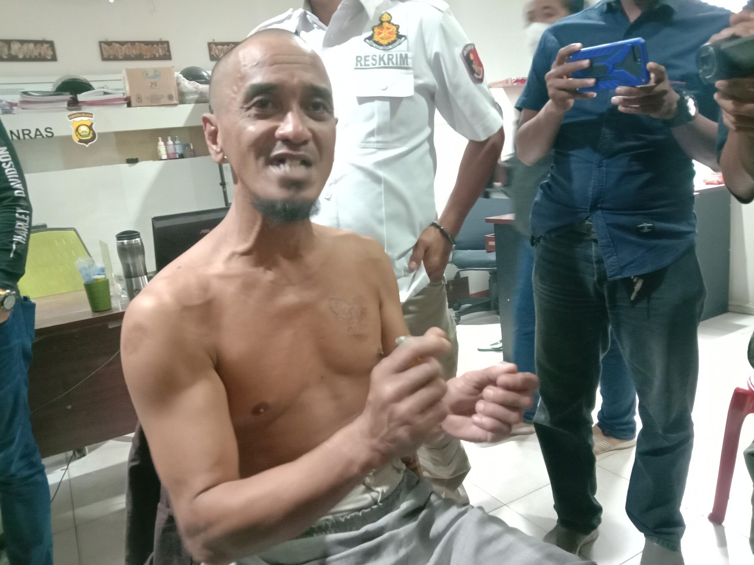 RM ditangkap Tim Polda Sumsel usai membakar musala di Palembang (Dede Febryansyah / Mattanews.co)