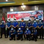 Satuan Satuan Polisi Pamong Praja (Satpol PP) dan Pemadam Kebakaran (Damkar) Sumatera Selatan (Sumsel), menggelar upacara peringati Hari Ulang Tahun (Hut) ke-102 tahun Damkar RI (Reza Fajri / Mattanews.co)