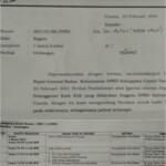 Badan Kehormatan (BK) DPRD Kabupaten Ciamis, Jawa Barat, mengeluarkan surat nomor 156.2/58/DPRD pada Jum'at (26/2/2021)