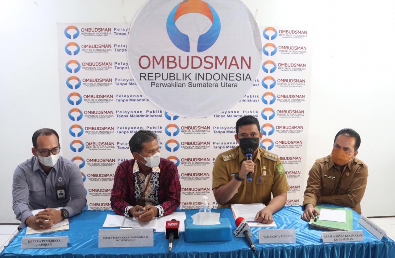 Saat menggelar pertemuan dengan Ombudsman RI Perwakilan Sumsel, Wako Medan Bobby Nasution akan mencairkan insentif nakes Covid-19 di Medan (Dok. Humas Pemkot Medan / Mattanews.co)