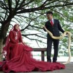 Sadam dan Desti, calon pengantin di Palembang ini mengusung konsep foto prawedding menggunakan properti ular (Dok. Pribadi Sadam Maulana / Mattanews.co)