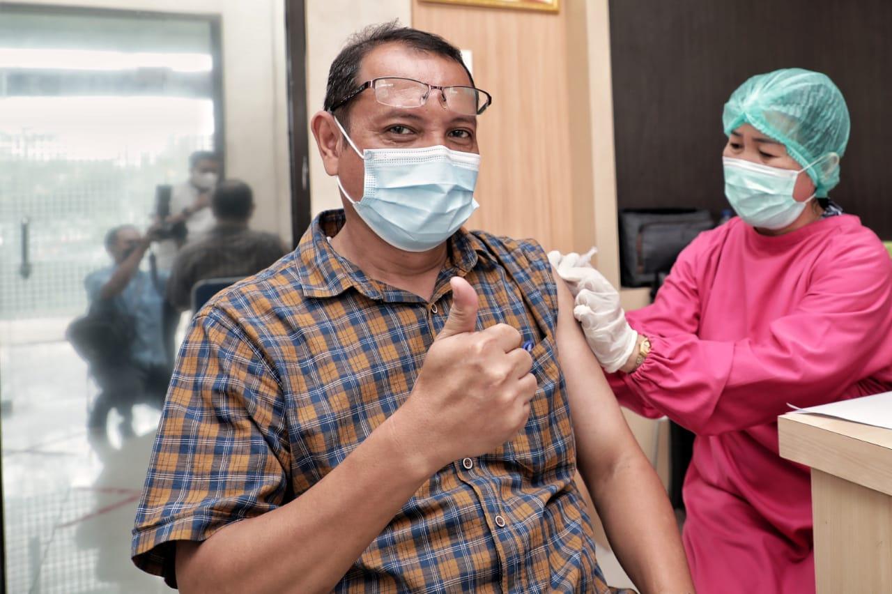 Kepala Dinas Kominfo Kota Medan Zain Noval (Tison Sembiring / Mattanews.co)