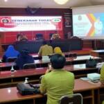 Wako Blitar Santoso saat memimpin Rapat Penekanan Anggota Gugus Tugas Kota Layak Anak di Ruang Sasana Praja Pemkot Blitar