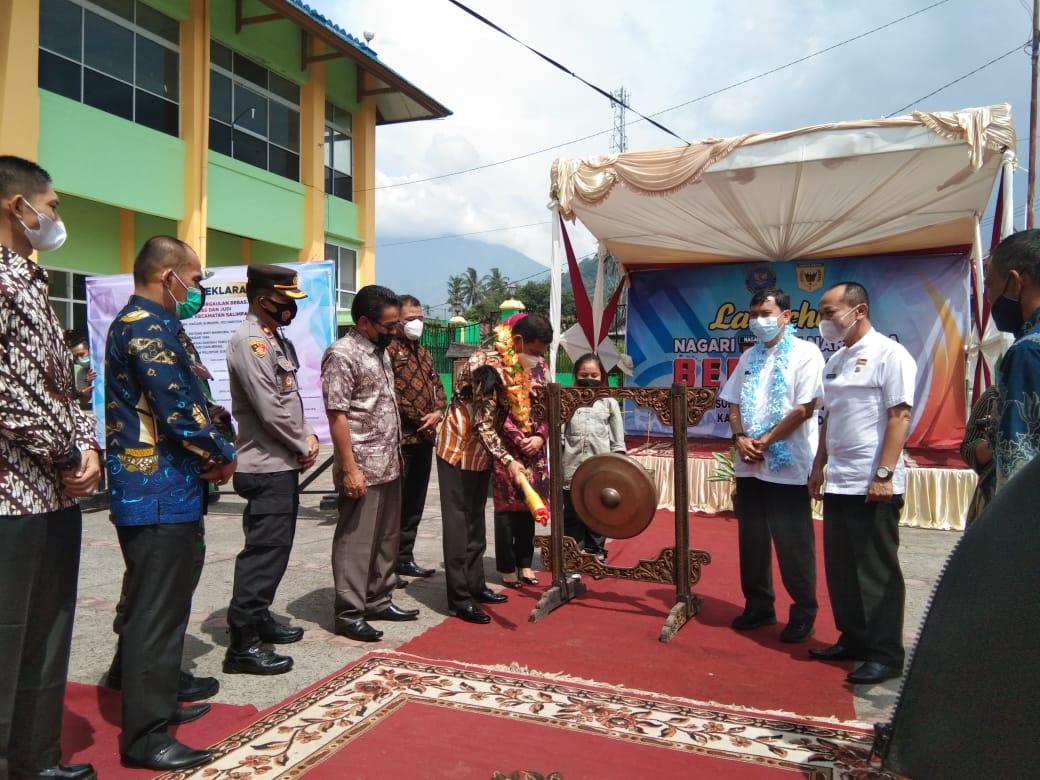BNNP Sumbar-Pemkab Tanah Datar meluncurkan Satgas Nagari Sumanik (M Rafi / Mattanews.co)
