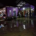 Banjir di desa Ciparay Kecamatan Cidolog Kabupaten Ciamis Jawa Barat.