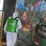 Kegiatan penyemprotan kali ini dilaksanakan di TK As - Syafiiyyah Jl. Caringin No.38, Sayang, Jatinangor, Kabupaten Sumedang.