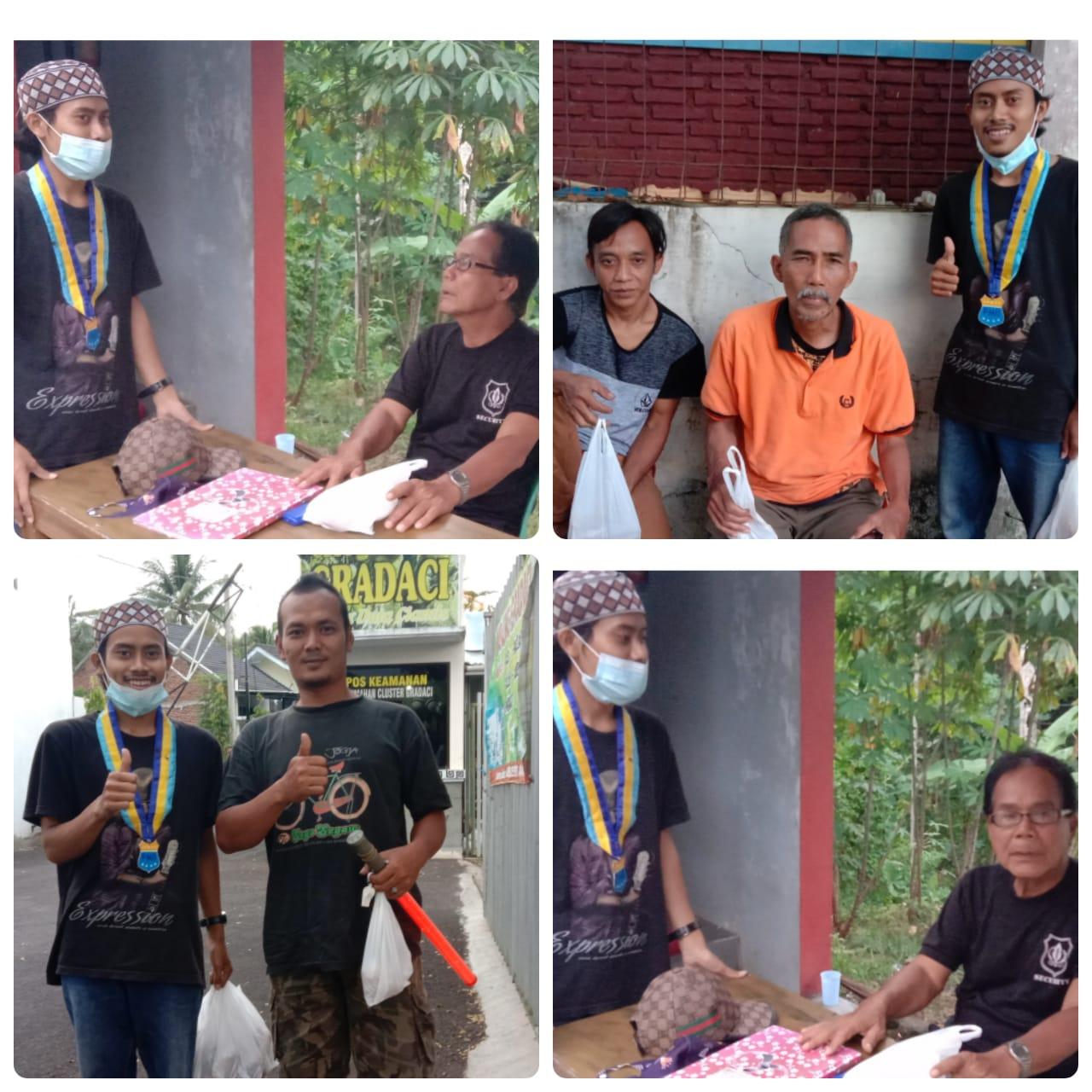 menyambut hari lahir ke-61,  Pergerakan Mahasiswa Islam Indonesia (PMII) Darussalam Ciamis adakan bakti sosial (baksos)