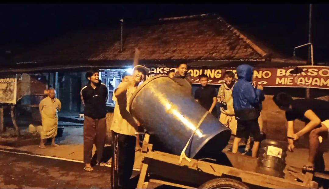 sekelompok pemuda dari Kelurahan Muara Dua Kecamatan Prabumulih Timur Kota Prabumulih