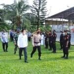 Di Kota Prabumulih gelar Apel Pasukan yang dipimpin oleh Walikota (Wako) Ir. H. Rindho Yahya dilaksanakan dihalaman Mapolres Prabumulih, Rabu (5/5/2021).