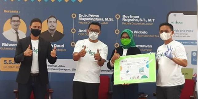 Pemerintah Provinsi Jawa Barat (Pemprov Jabar) berkomitmen mendorong pengelolaan sampah berbasis digital dalam upaya menerapkan konsep ekonomi sirkular.