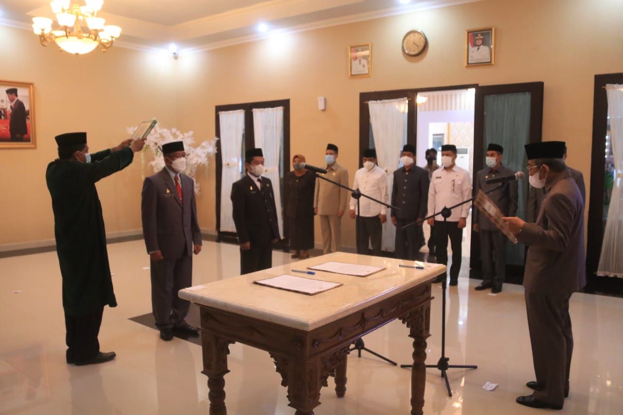Gubernur Sulbar Lantik Dua Pimpinan Tinggi Pratama