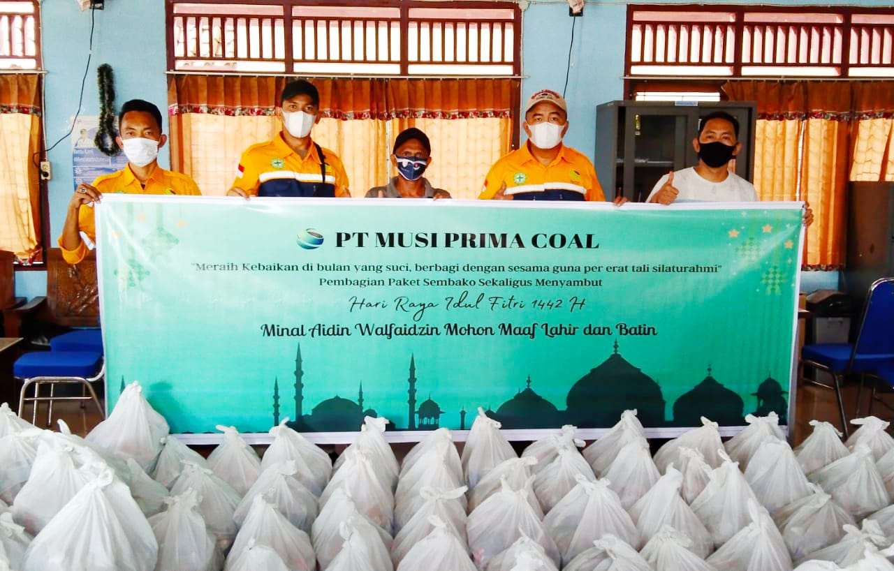 T.Musi Prima Coal (MPC), di Desa Gunung Raja Kecamatan Empat Petulai Dangku Kabupaten Muara Enim,yang menggelar Bakti Sosial (Baksos) ke Lima wilayah, sabtu (8/5/21).