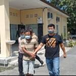 Rusdiono (44) Warga Kota Prabumulih Sumatera Selatan (Sumsel) ditangkap Satreskrim Polres Prabumulih di tempat persembunyiannya di Desa Air Ringki Kecamatan Buah Pemacah Kabupaten OKU Selatan Sumsel,pada Sabtu (8/5/2021) malam.