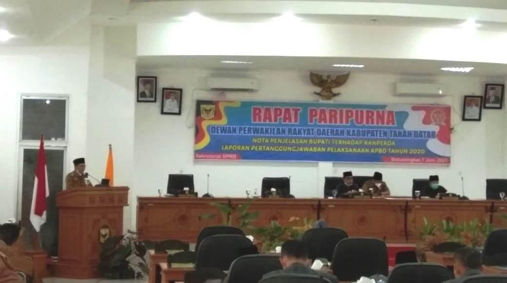 Rapat Paripurna di DPRD Tanah Datar Sumbar (M Rafi / Mattanews.co)