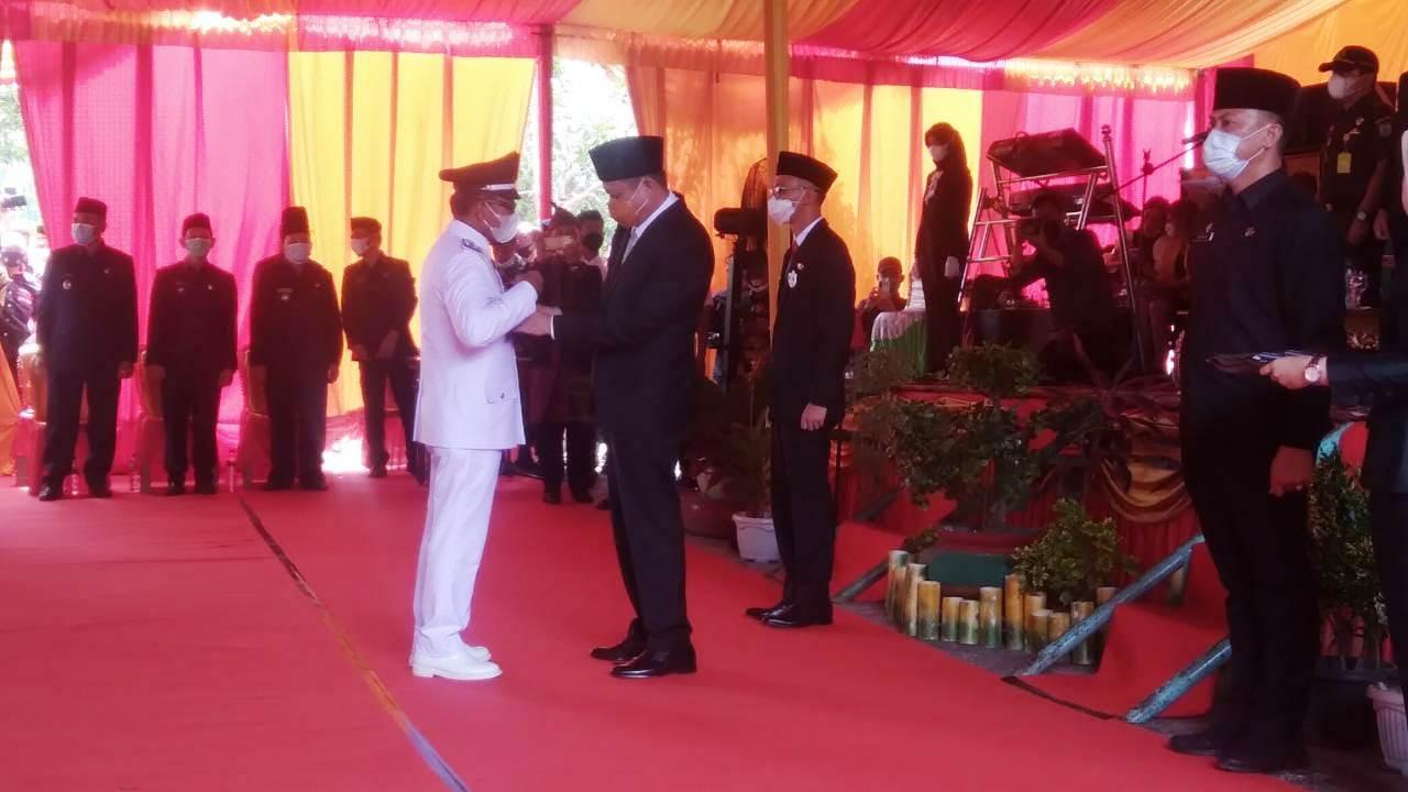 Bupati OKU Timur melantik 23 orang kades di OKU Timur Sumsel (Eko Riyanto / Mattanews.co)