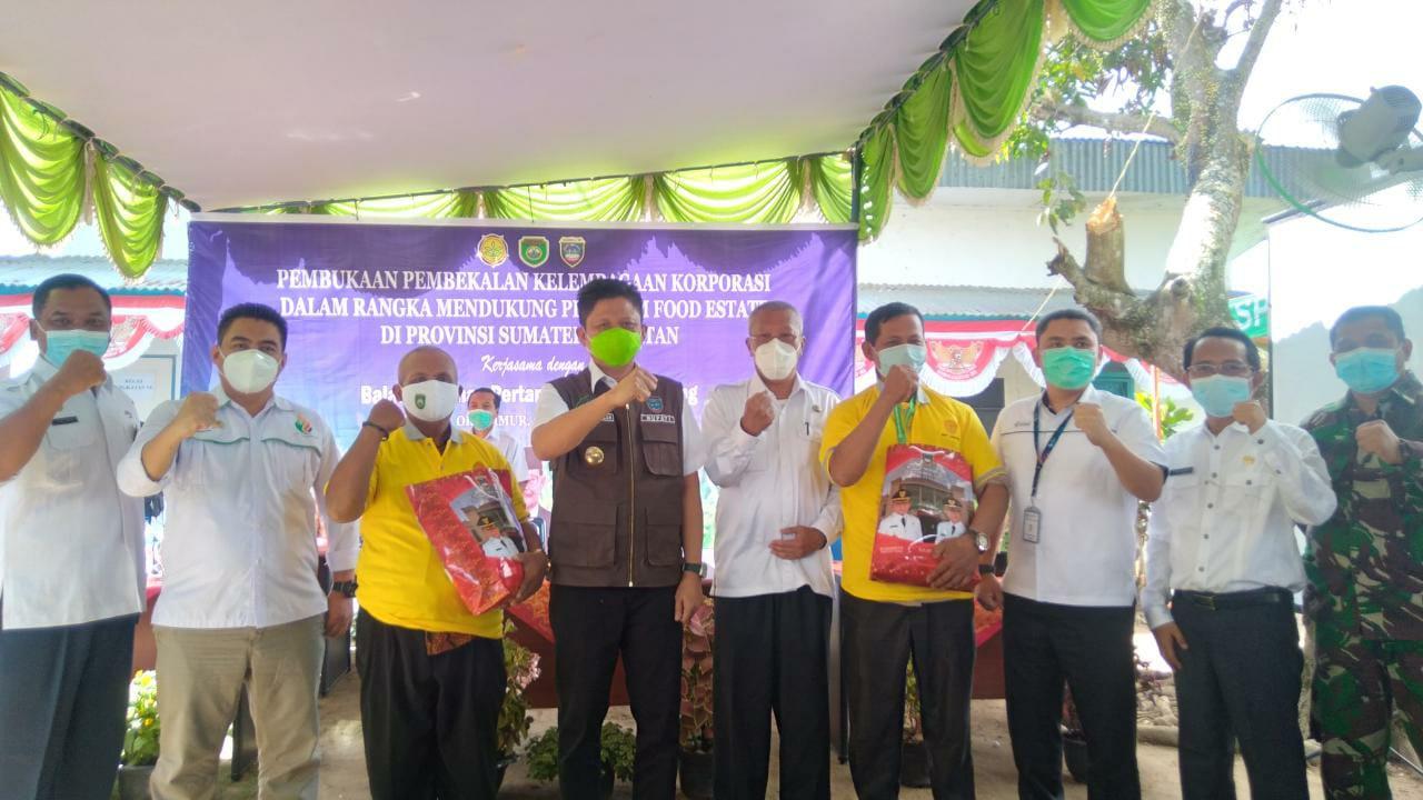 Peresmian pengembangan Agro Solution Food Estate di Kabupaten OKU Timur Sumsel (Eko Riyanto / Mattanews.co)
