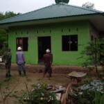 Musala Al-Kahfi di Desa Mabar kecamatan Bangun Purba Deli Serdang Sumut, disulap anggota TMMD ke-111 menjadi lebih modern (M Siddik / Mattanews.co)
