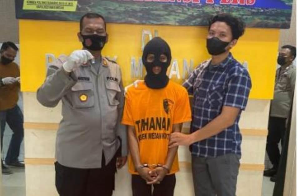 Polsek Medan Kota meringkus SI, pengedar narkoba (Tison Sembiring / Mattanews.co)