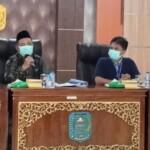 Plt Bupati Merangin mengumpulkan semua perangkat daerah di seluruh kecamatan, untuk membahas tingginya kasus Covid-19 di Merangin Jambi (Yulisman / Mattanews.co)