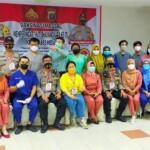Polsek Medan Timur Sumut menggelar vaksinasi massal tahap kedua (Tison Sembiring / Mattanews.co)
