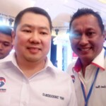 Ketua Umum Partai Pelindo, Hary Tanoesoedibjo dan Ketua DPD Partai Perindo Kabupaten Fakfak Denny Laode