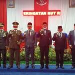 Para pejabat yang hadir dalam sidang paripurna di DPRD Lahat, utnuk mendengarkan pidato kenegaraan Presiden RI Joko Widodo (Dok. Humas DPRD Lahat / Mattanews.co)