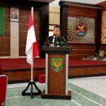 Dandim 0406 MLM, Letkol Inf Erwinsyah Taupan saat membuka TMMD ke-112 di Kabupaten Musi Rawas Sumsel (Sofiyan / Mattanews.co)