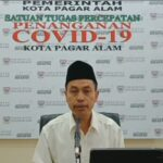 Juru Bicara Satuan Tugas Penanganan Covid-19 Pagar Alam Samsul Bahri (Baron / Mattanews.co)