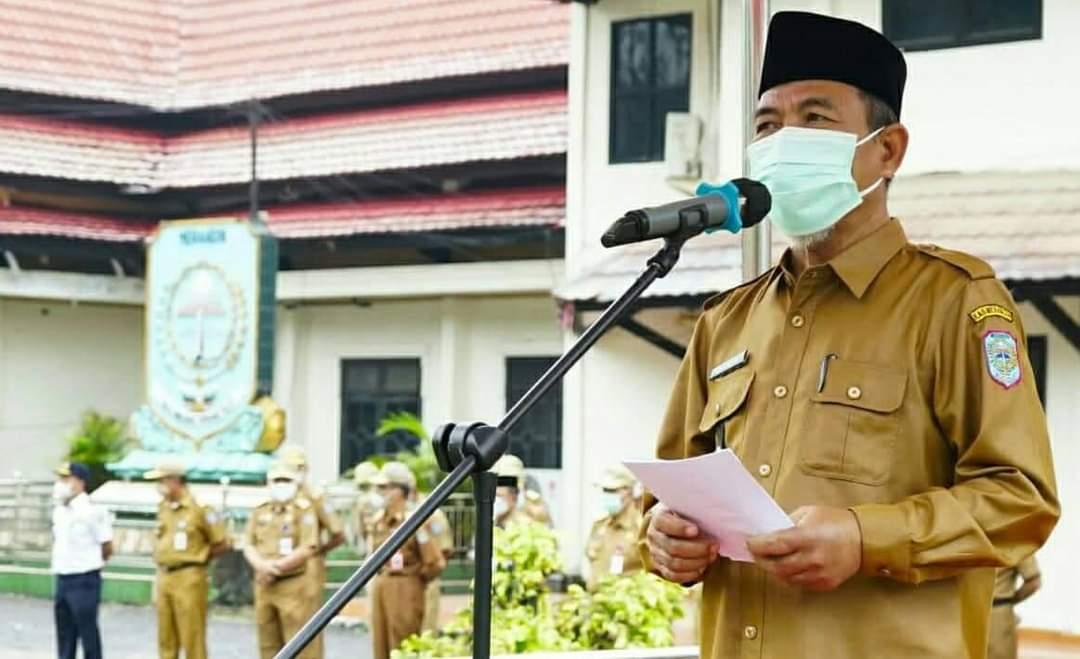 Bupati Merangin Jambi meminta agar seluruh ASN di Pemkab Merangin harus divaksinasi (Yulisman / Mattanews.co)