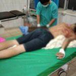 Riko, warga Lahat Sumsel saat dirawat di RSUD Lahat, usai menjadi korban begal sadis (Agustoni / Mattanews.co)