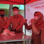 Dinas TPTH Lahat menggelar vaksinasi rabies ke hewan-hewan peliharaan (Agustoni / Mattanews.co)