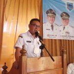 Sekda Lahat Chandra saat membuka Sosialisasi Satgas Pengawasan Koperasi di Lahat Sumsel (Agustoni / Mattanews.co)